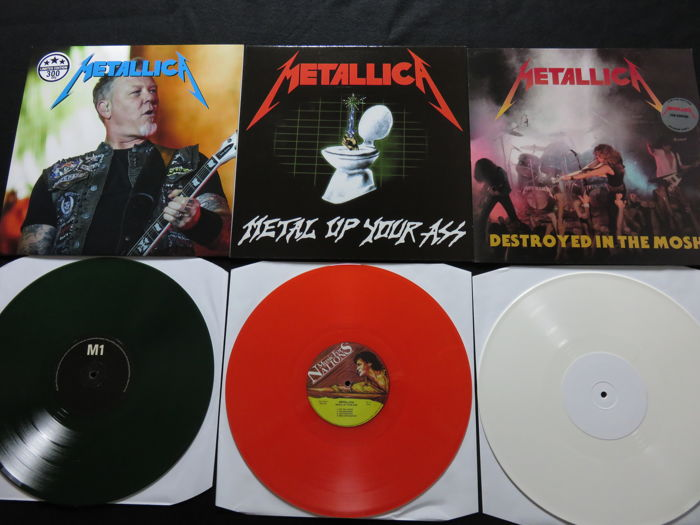 Metallica - Great lot of 3 LP's, of which 2 are very limited editions! All records on colored vinyl!