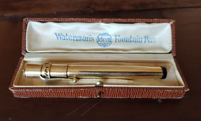 Waterman's Ideal Fountain Pen con astuccio originale