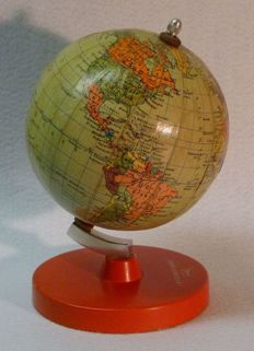 Advertisement globe GDR for INTERFLUG, manufacturer Räth, Leipzig