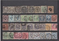 Japan 1870/1920 - 245 pieces on 6 plug-in cards and 8 pieces of stationery