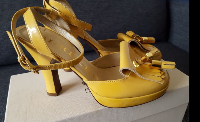 Burberry ankle strap shoes