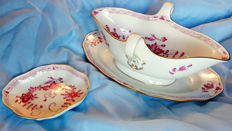 Meissen - Lot of gravy boat and small bowl - Sauciere, Schüssel