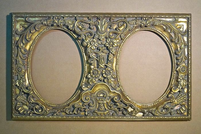 Baroque style - resin frame (98x58 cm) - Italy - 1950s
