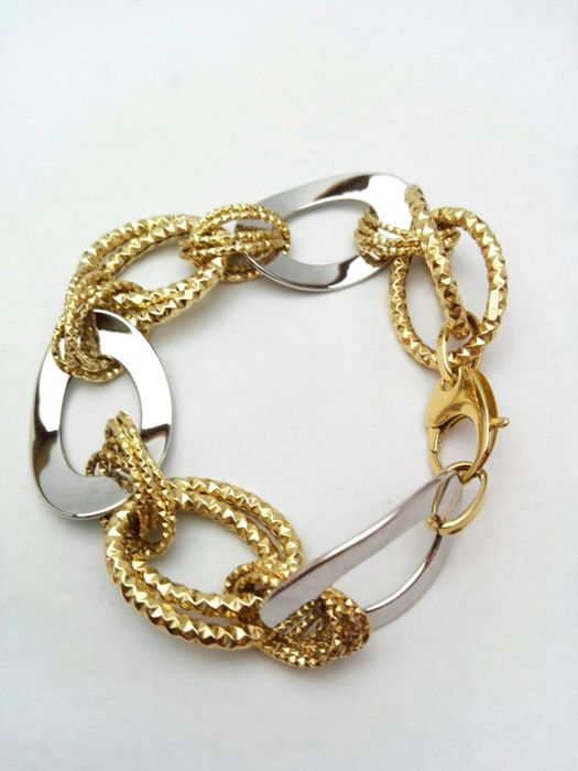 Bracelet in 18 kt yellow and white gold Weight: 14.5 g