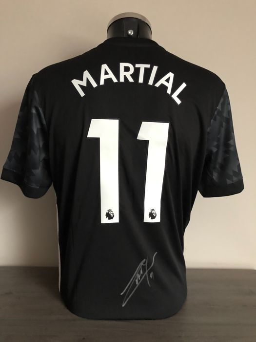 outlet store f62aa be882 Anthony Martial signed Manchester United away 2017-2018 ...