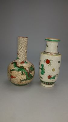 Two crackle vases - China - second half 20th century