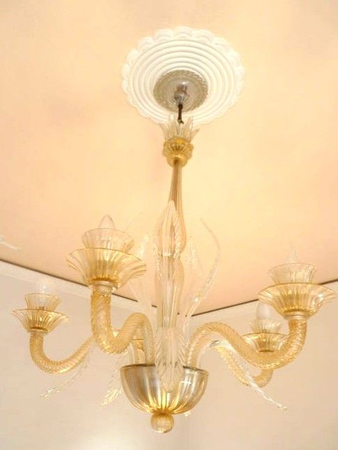 Murano - pure gold leaf glass chandelier