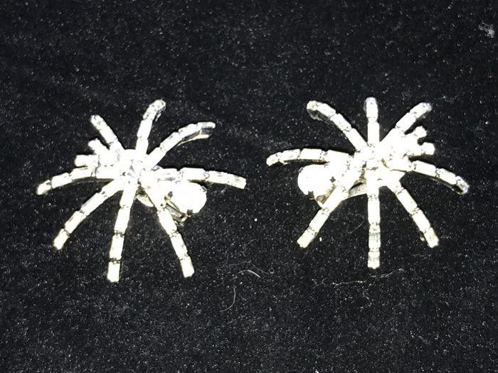 Very rare  1980's fully Signed Butler and Wilson Spider earrings