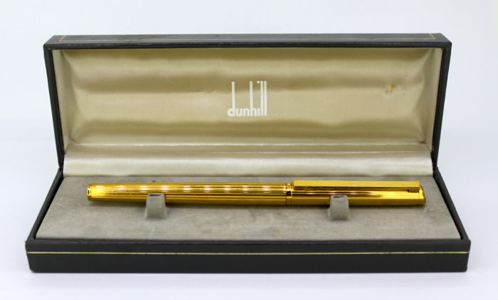 Dunhill - Vintage gold plated fountain pen with 14k gold nib