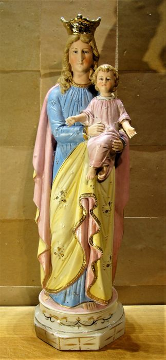 Porcelain Madonna with baby Jesus - Italy - second half 20th century