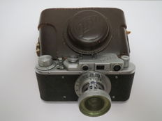 "The very first ""FED"". With the inscription factory FEDZHERZHINSKOGO.№224148.Prototype of ""Leica II""."