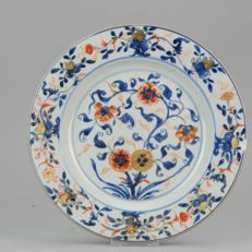 Large Imari plate Chinese porcelain, Qing Qianlong - China - 18th c.