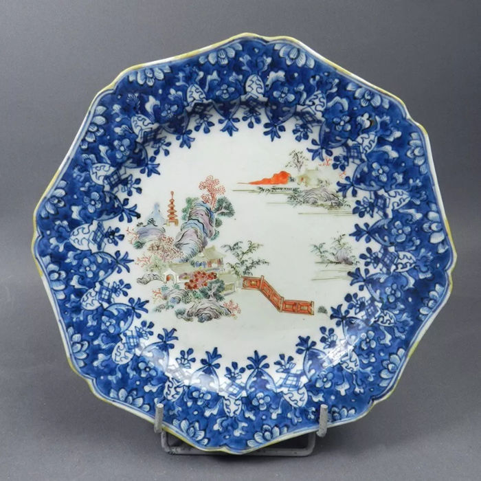 Porcelain plate, China, Yongzheng era, 1723-1735