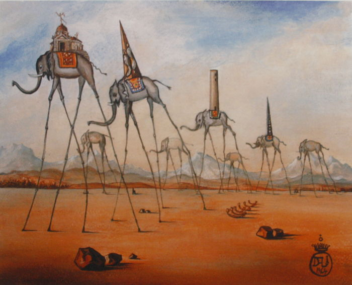 Salvador Dalí (after) - Elephants II