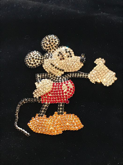 Very rare 1980's fully signed Butler and Wilson Disney Mickey Mouse