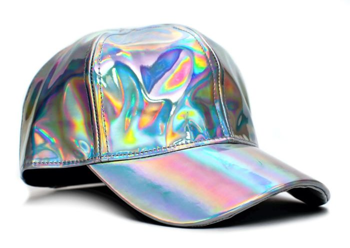Back to the Future - Marty McFly Curved Bill Rainbow Cap