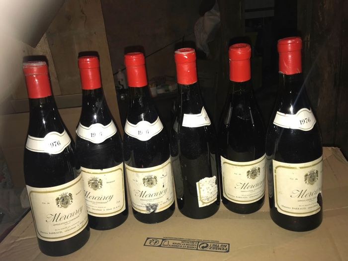 1976 Mercurey Domaine Maurice Barraud x 6 bottles