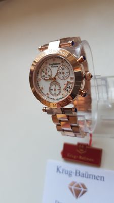 Krug-Baümen - Couture Chrono White MOP Diamond Rose Gold Watch  - Unisex - 2011-nå