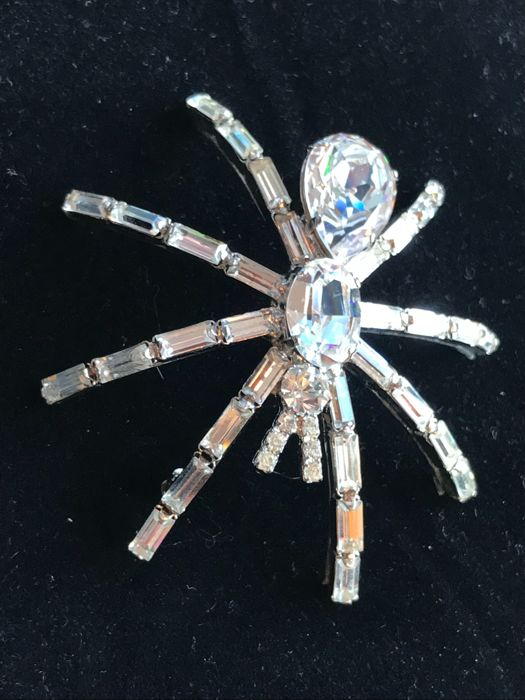 Rare size 1980's Butler and Wilson Spider brooch