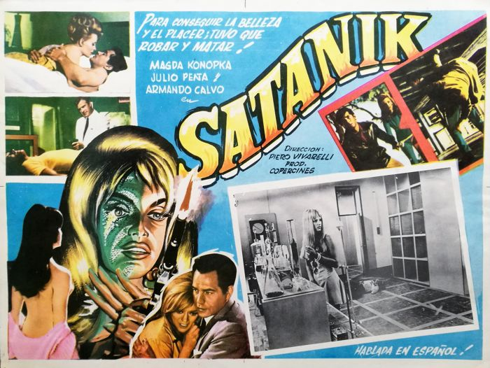 Satanik - lobby card for the Mexican version of the movie (1969)
