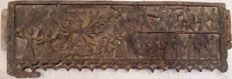 Wooden Santhal Tribe panel depicting Durga - India - late 19th century (102 cm)