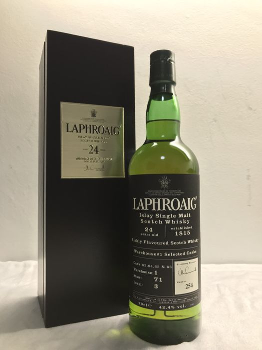 Laphroaig 24 years old - Warehouse no. 1 - One of 600 - OB