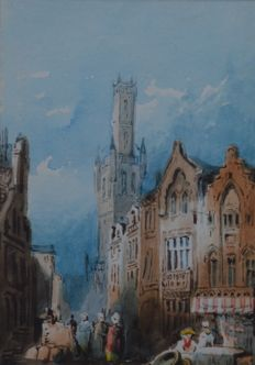 Frédéric DE MERCEY (French 1805-1860) - Bruges Cathedral