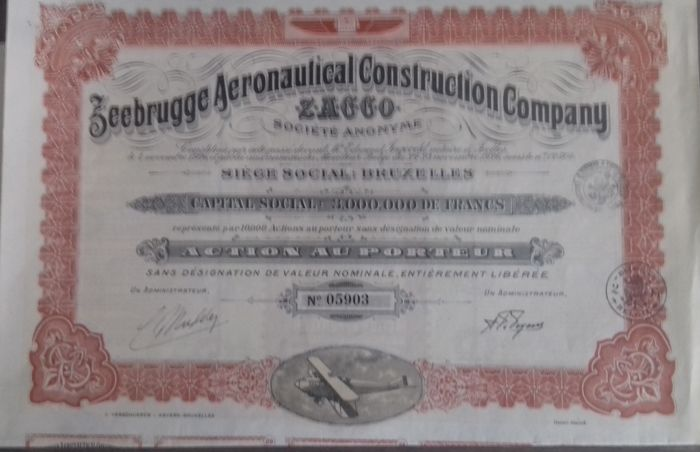 Zeebrugge Aeronautical Construction Company ZACCO - 1926 - Action - DEKO