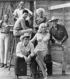 Elliot Erwitt (1928-) - Cast and crew of 'The Misfits', 1960