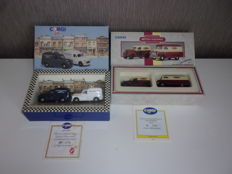 Corgi - Scale 1/43 - Lot of 2 cases of 4 models: Ford, Bedford & 2 x Morris Minor vans
