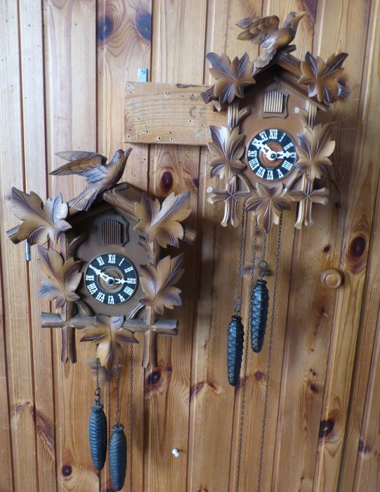 2 Cuckoo clocks mid previous century