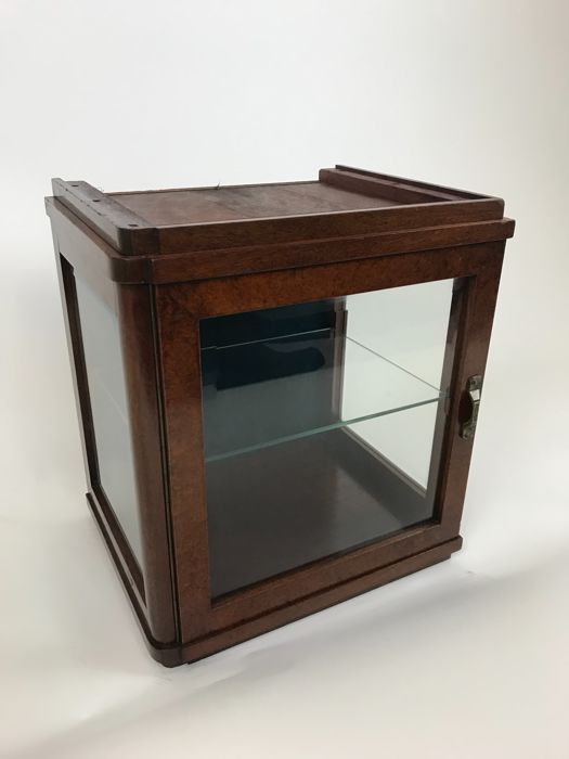 Display cabinet with facet cut glass, France, first half 20th century