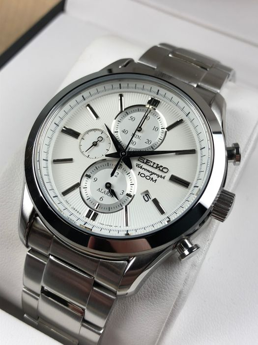 "Seiko - Chronograph  ""NO RESERVE PRICE""  - SNAF63P1 - Heren - 2011-heden"