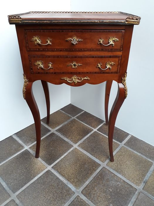 Commode Cabinet Louis 15th Style With Gilded Bronze   France   Early 20th  Century