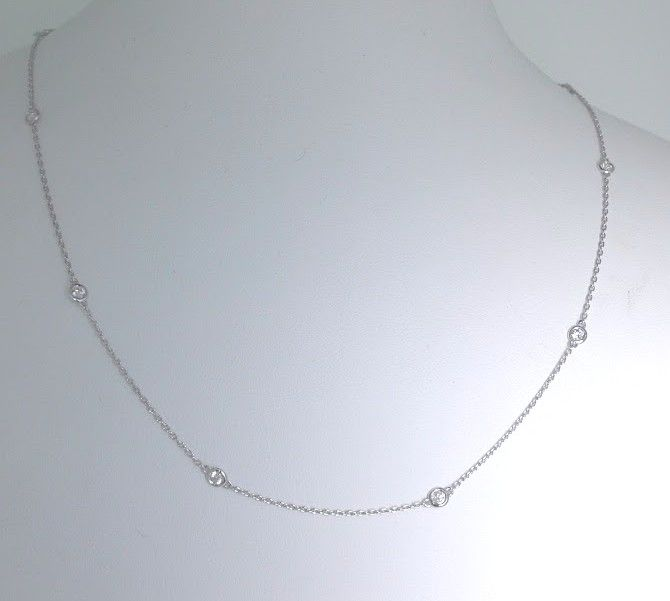 Diamond necklace/bracelet with 10 diamonds, 0.50 ct in total *** no reserve price ***