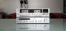 Vintage eighties, rare Technics Stereo integrated Amplifier (SU-Z22) + Technics Double Tape Deck (RS-T11)