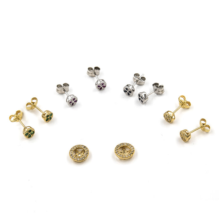 Miore Earrings Women studs Ruby with Brilliant Cut Diamonds Yellow Gold 18 Kt/750 vxgRQJn3