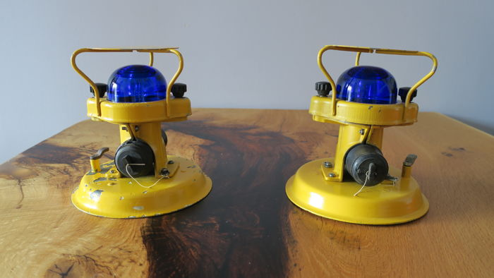 Original runway lighting of Military Airport / Table Lamp  (2x)
