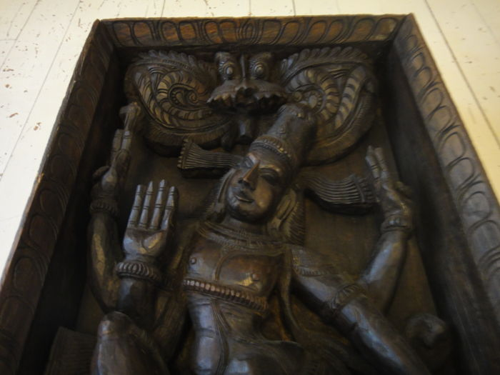 Large wooden dancing Shiva - India - 2nd half od the 20th century