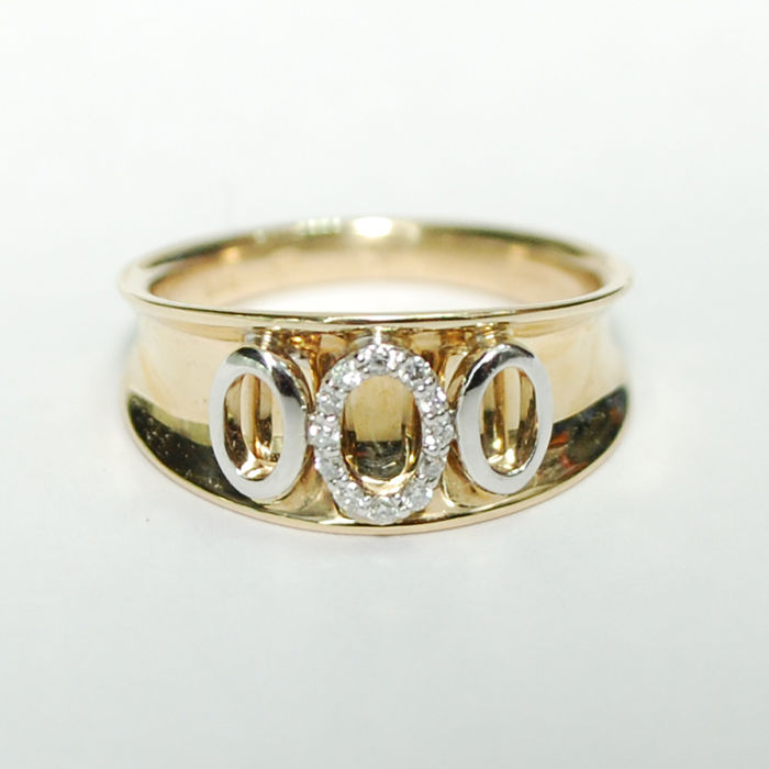 14K Gold ring with diamonds / 0 10 ct total weight / No Reserve Price -  Catawiki