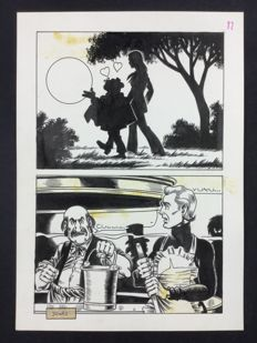 Magnus - original plate Alan Ford no. 32 (1972)