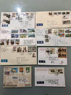 PRC 1995/2003 - Over 130 envelopes sent from China, some returned to sender, with coeval postage stamps
