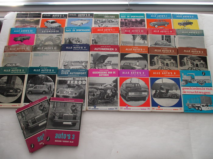 Collection of 30x automobile booklets Alken Reeks 1951 - 1971