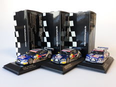 Minichamps - Scale 1/43 - Lot with 3 x Audi A4 DTM Team Abt Sportsline 'Red Bull'