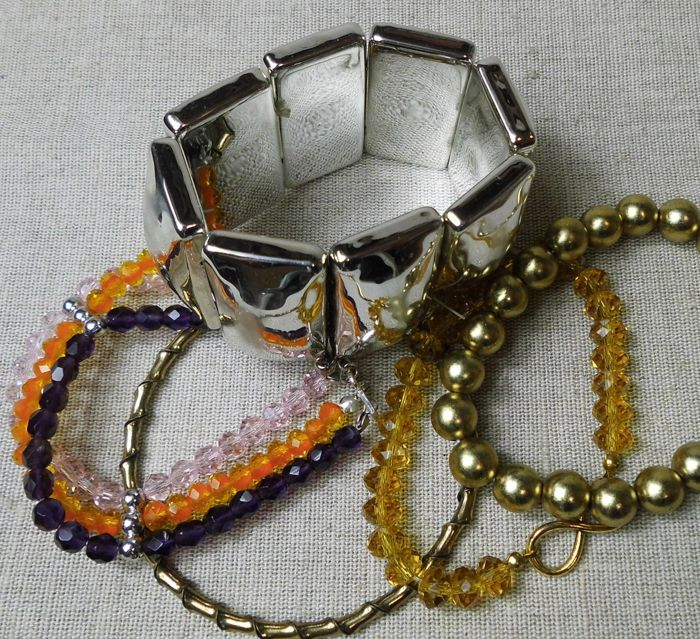 Large collection over 200 items of jewelry and other ...