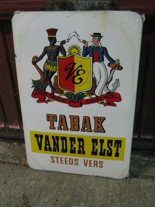 Beautiful original very nice enamel sign from 1953. Approx. 70 cm x 47 cm. Heavy quality. Truly a showpiece for the collector.