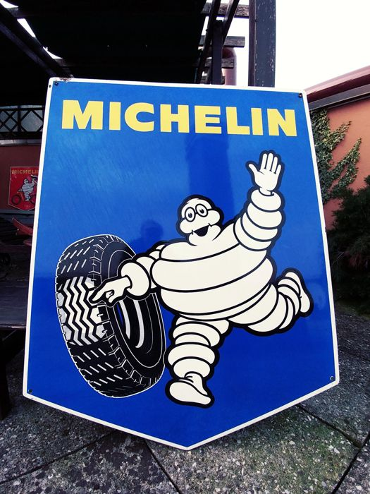 Very Large MICHELIN sign insegna Garage plaque emaillee emailschild