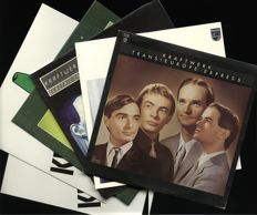 "A history in Kraftwerk - Lot of SIX vinyl albums including ""Trans-Europe-Express"", ""Ralf & Florian"", ""Electric Cafe"", ""Oscillator"", ""Kraftwerk"" and ""Kraftwerk part 2"""