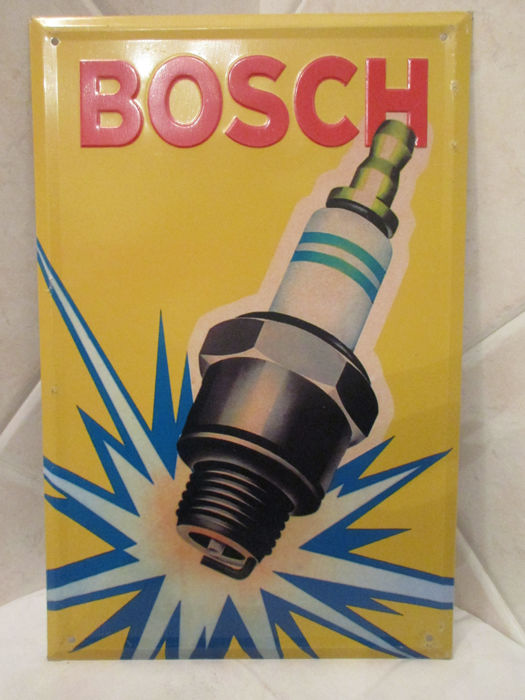 BOSCH metal sign (reproduction) - Italy, 1990s