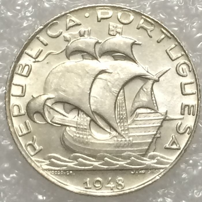 Portugal Republic - 2 ½ Escudos - 1948 - Silver